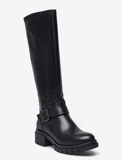 Woms Boots - langskaftede - black leather