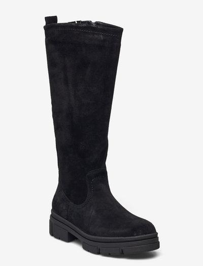 Woms Boots - langskaftede - black suede
