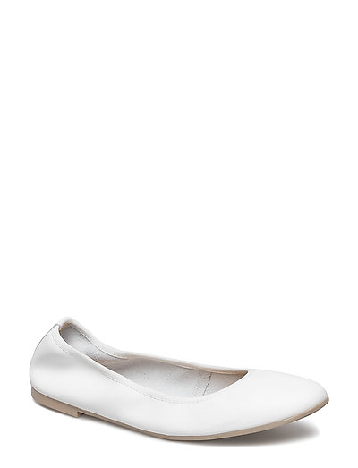 Woms Ballerina - WHITE LEATHER