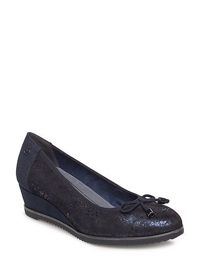 Woms Court Shoe - NAVY COMB