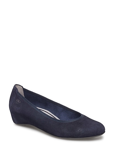 Woms Court Shoe - NAVY SUEDE