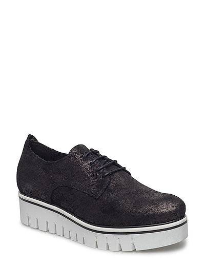 Woms Lace-up - BLACK METALLIC