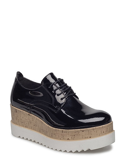 Woms Lace-up - BLACK PATENT