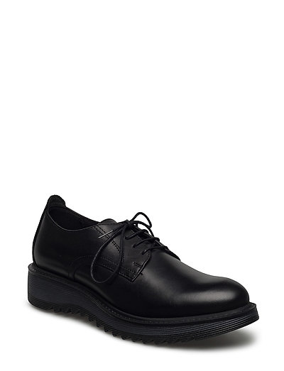 Woms Lace-up - Tracey - BLACK LEATHER