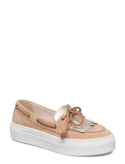 Woms Lace-up - NUDE/LT.GOLD