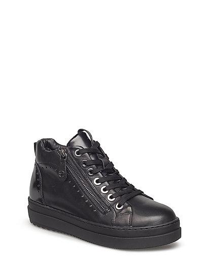 Woms Boots - BLK LEA. COMB.
