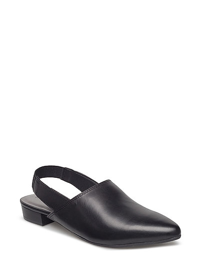 Woms Sling Back - BLACK LEATHER