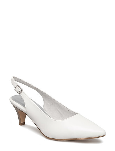 Woms Sling Back - WHITE MATT