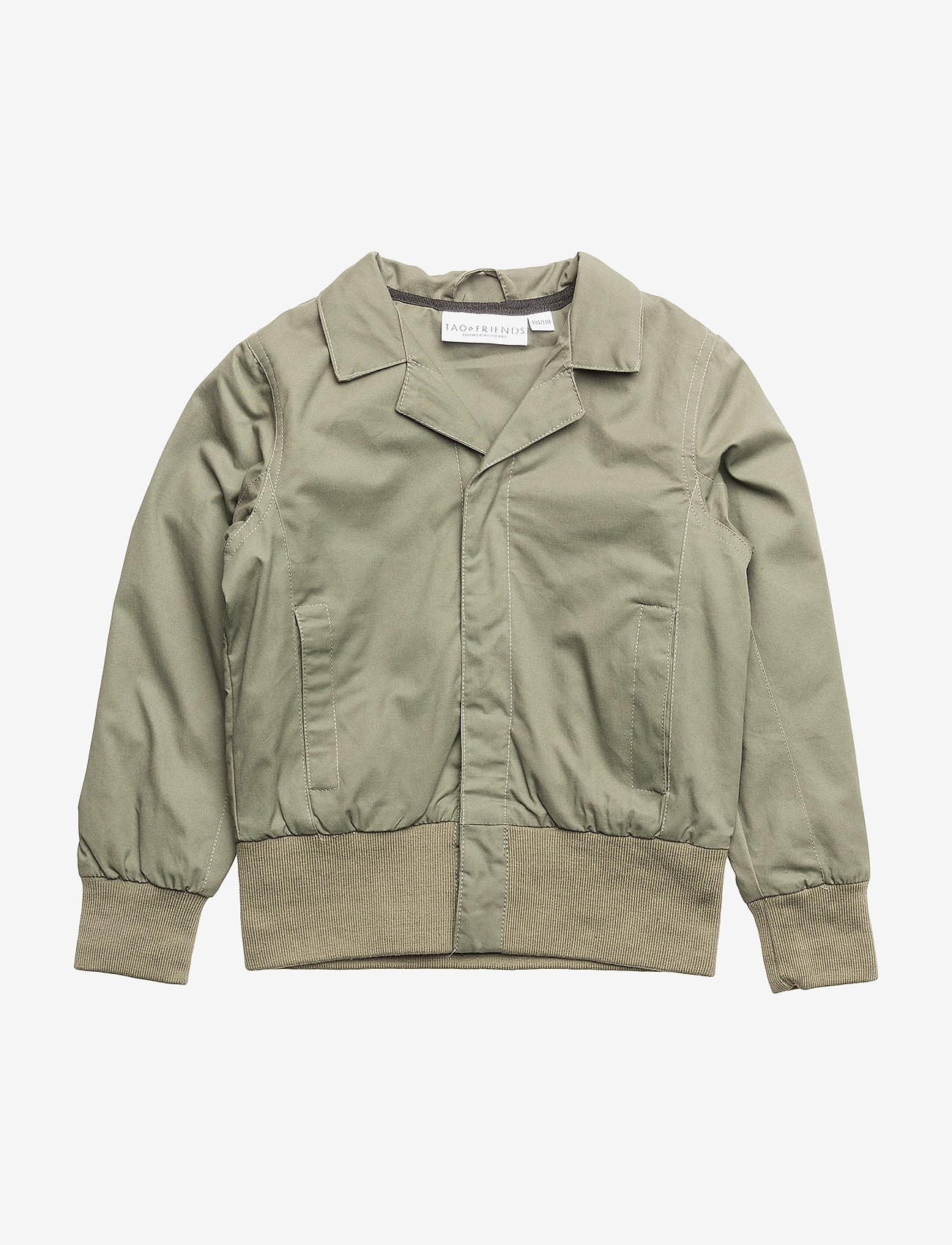 Tao & friends - Spring Jacket Vildsvinet embroidered single-animal - bomberjacks - green - 0