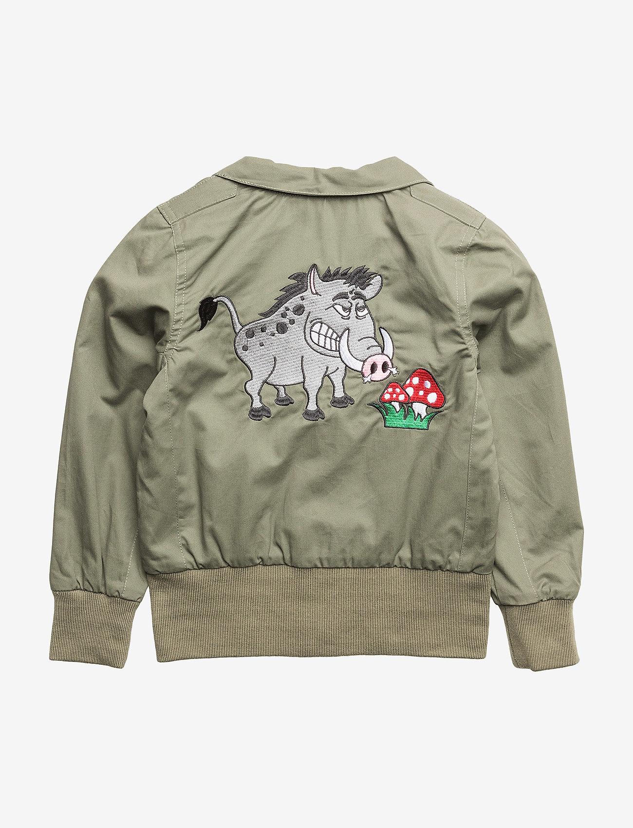 Tao & friends - Spring Jacket Vildsvinet embroidered single-animal - bomberjacks - green - 1
