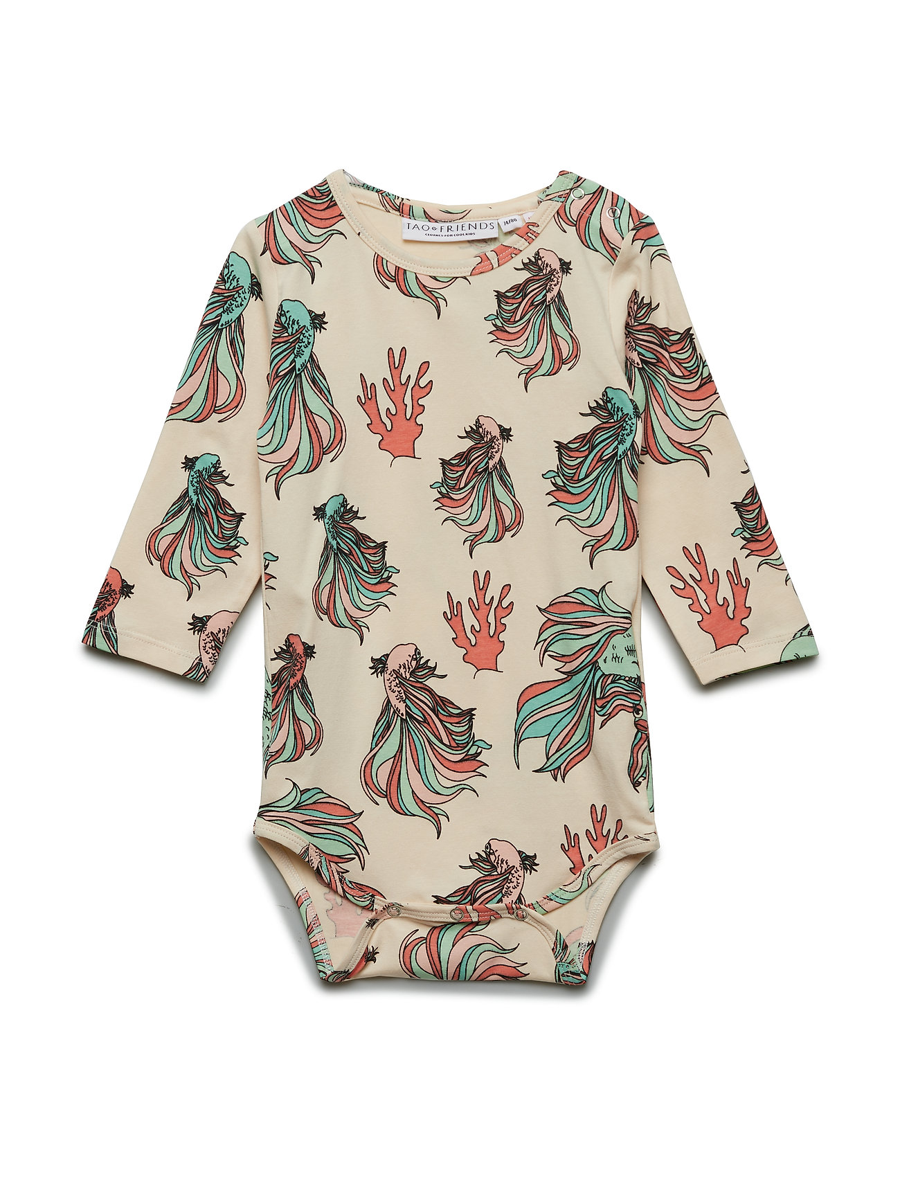 Tao & friends Baby Body multi-animal FISKEN - BEIGE