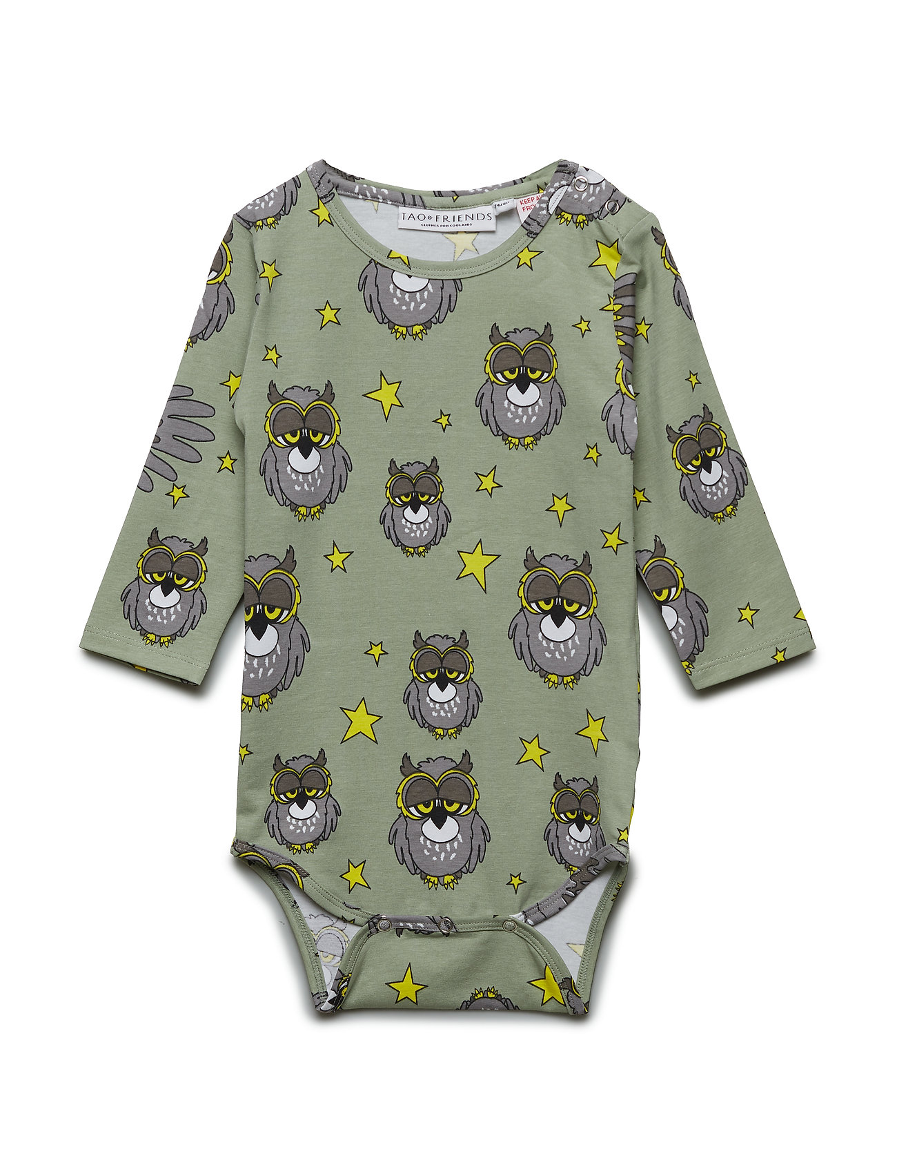Tao & friends Wrap Baby Body multi-animal UGGLAN - LIGHT GREEN