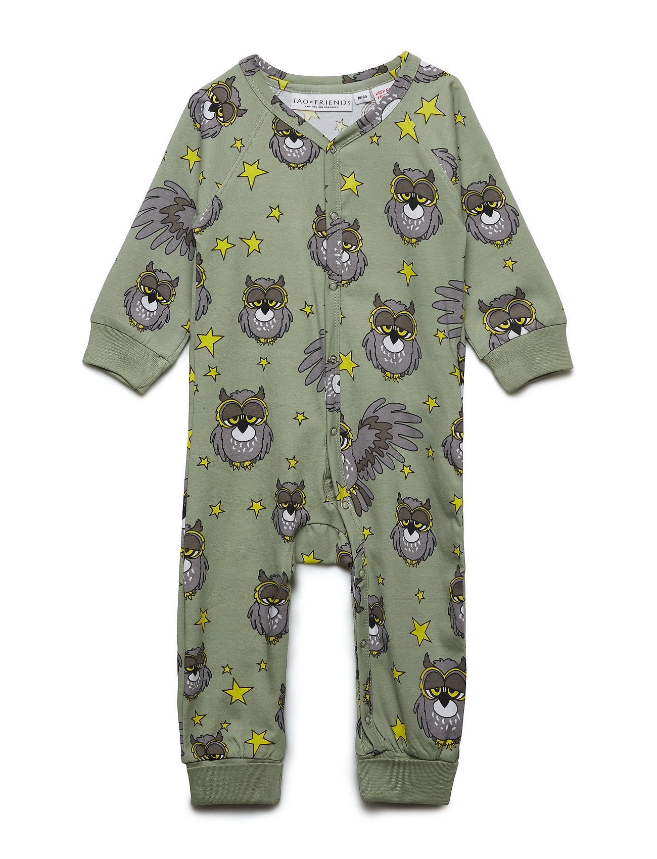 Tao & friends PJs One-piece UGGLAN - LIGHT GREEN