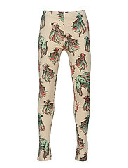 Leggings multi-animal FISKEN - BEIGE