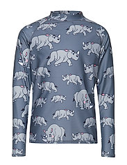 UV top long sleeves multi-animal - DARK GREY