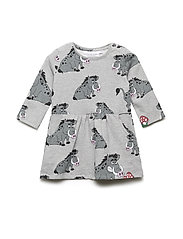 College dress multi-animal VILDSVINET - GREY