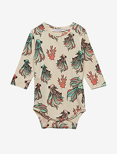 Baby Body multi-animal FISKEN - BEIGE
