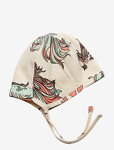 New born hat multi-animal - BEIGE