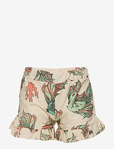 Ruffles shorts multi-animal - BEIGE
