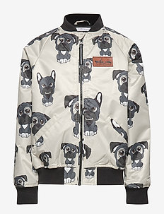 Bomber Jacket multi-animal HUNDEN light beige - LIGHT BEIGE