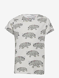 Tee multi-animal NOSHÖRNINGEN - LIGHT GREY