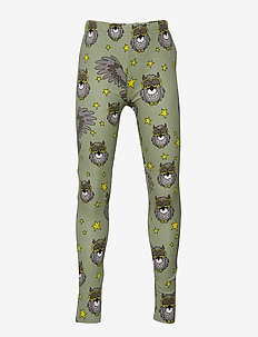 Leggings multi-animal UGGLAN - LIGHT GREEN