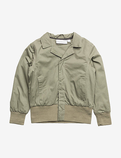 Spring Jacket Vildsvinet embroidered single-animal - bomberjakker - green