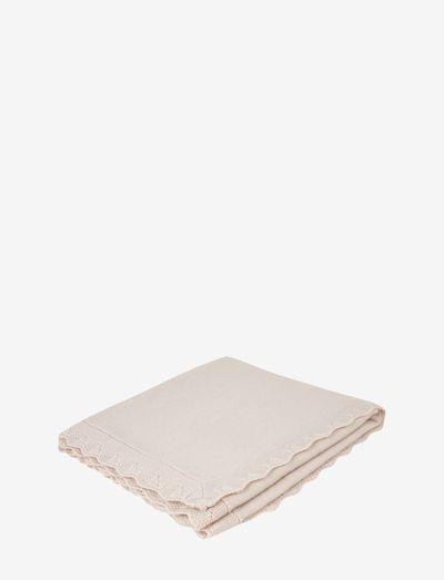 Merinos Wool Blanket - decken - beige