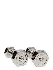 Tateossian Nut and Bolt Cufflinks - SILVER COLOUR