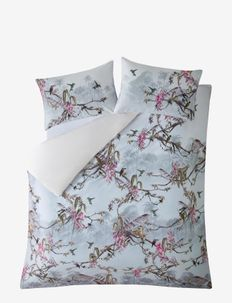 Single Duvet Cover Hibiscus - dekbedovertrekken - hibiscus grey