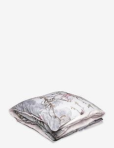 Single Duvet Cover Hibiscus - housses de couette - hibiscus grey