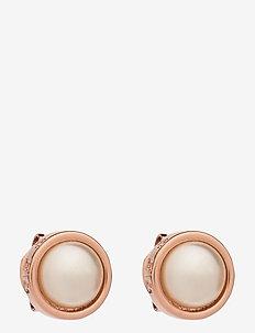 SINAA - stud oorbellen - rose gold/pearl