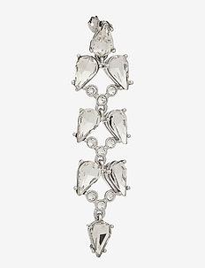 MARLA - oorhangers - silver/crystal