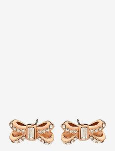 SABLA - stud oorbellen - rose gold/crystal