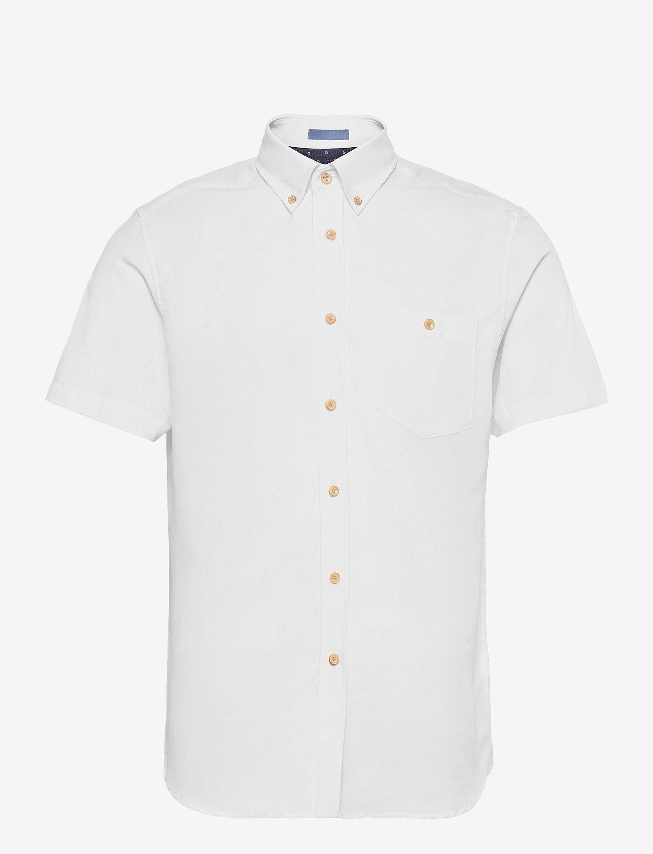 Ted Baker - YASAI - geruite overhemden - white - 0