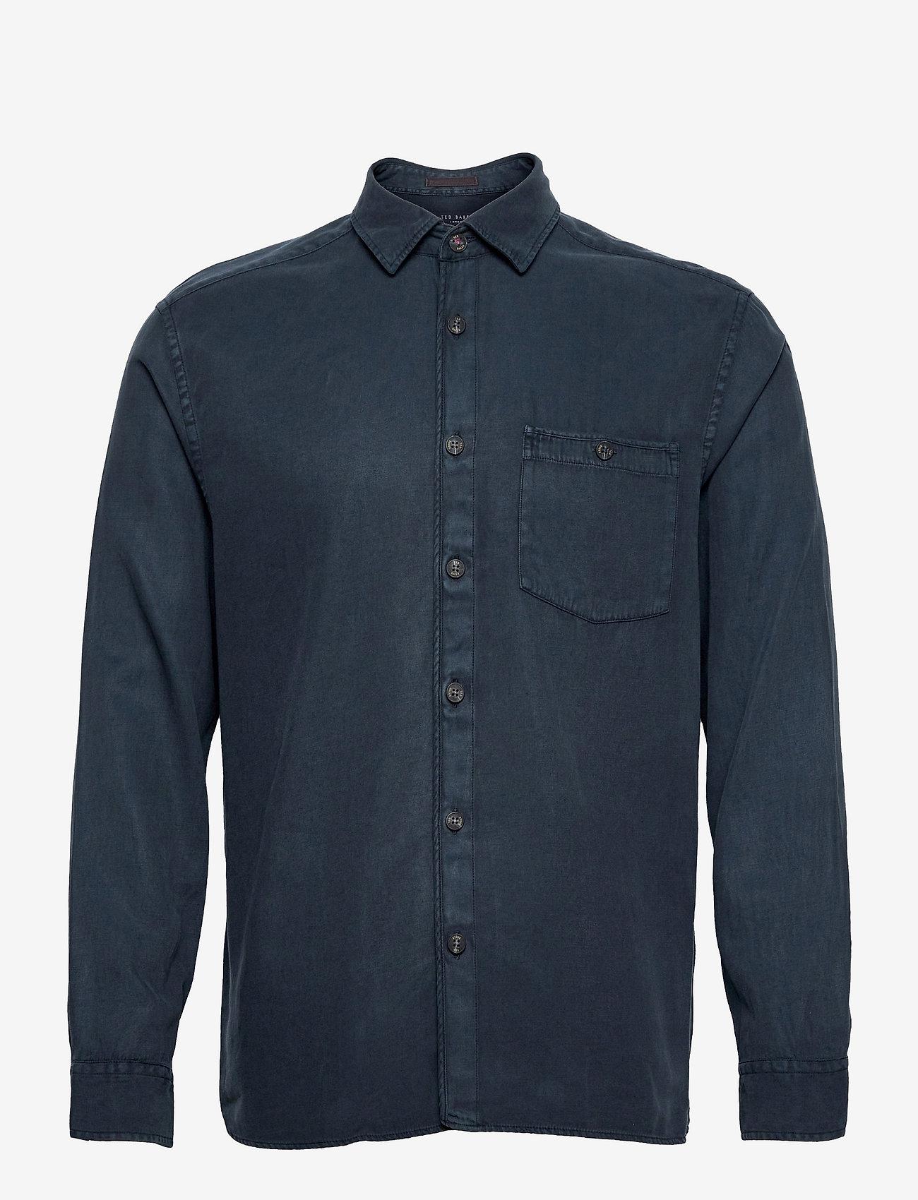 Ted Baker - BREWIN - linnen overhemden - navy - 0