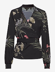 Ted Baker - YAYAH - long sleeved blouses - black - 0