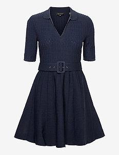 ALEEE - strikkede kjoler - navy