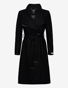 ROSE - manteaux en laine - black