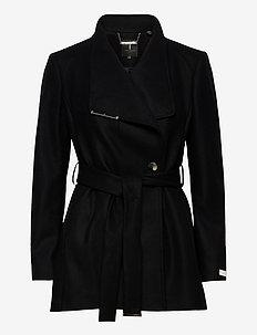 ROSESS - wełniane kurtki - black