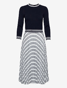 LANTAI - strikkede kjoler - navy