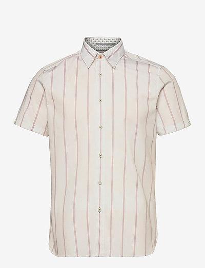 ELUSS - overhemden korte mouwen - white