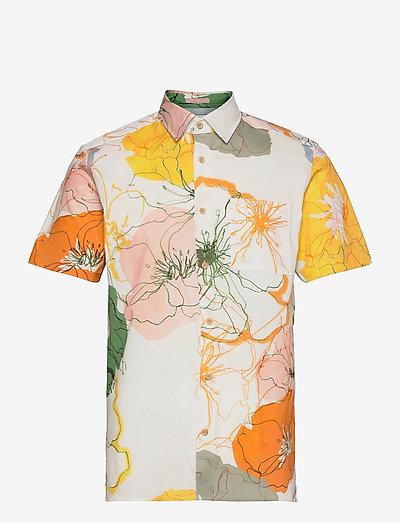 KNITTIN - overhemden korte mouwen - white