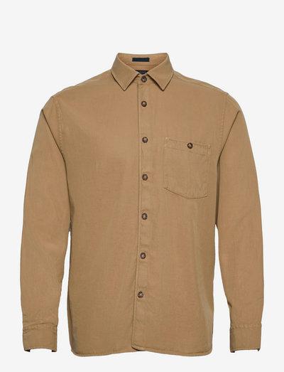 BREWIN - koszule w kratkę - beige