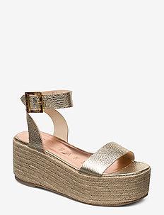 LENISAS - heeled espadrilles - gold