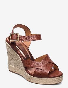 SELLANA - heeled espadrilles - lt-brown