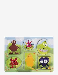 Babblarna- Peek-a-Boo puzzle 6 figures 1- 3 y - baby legetøj - green