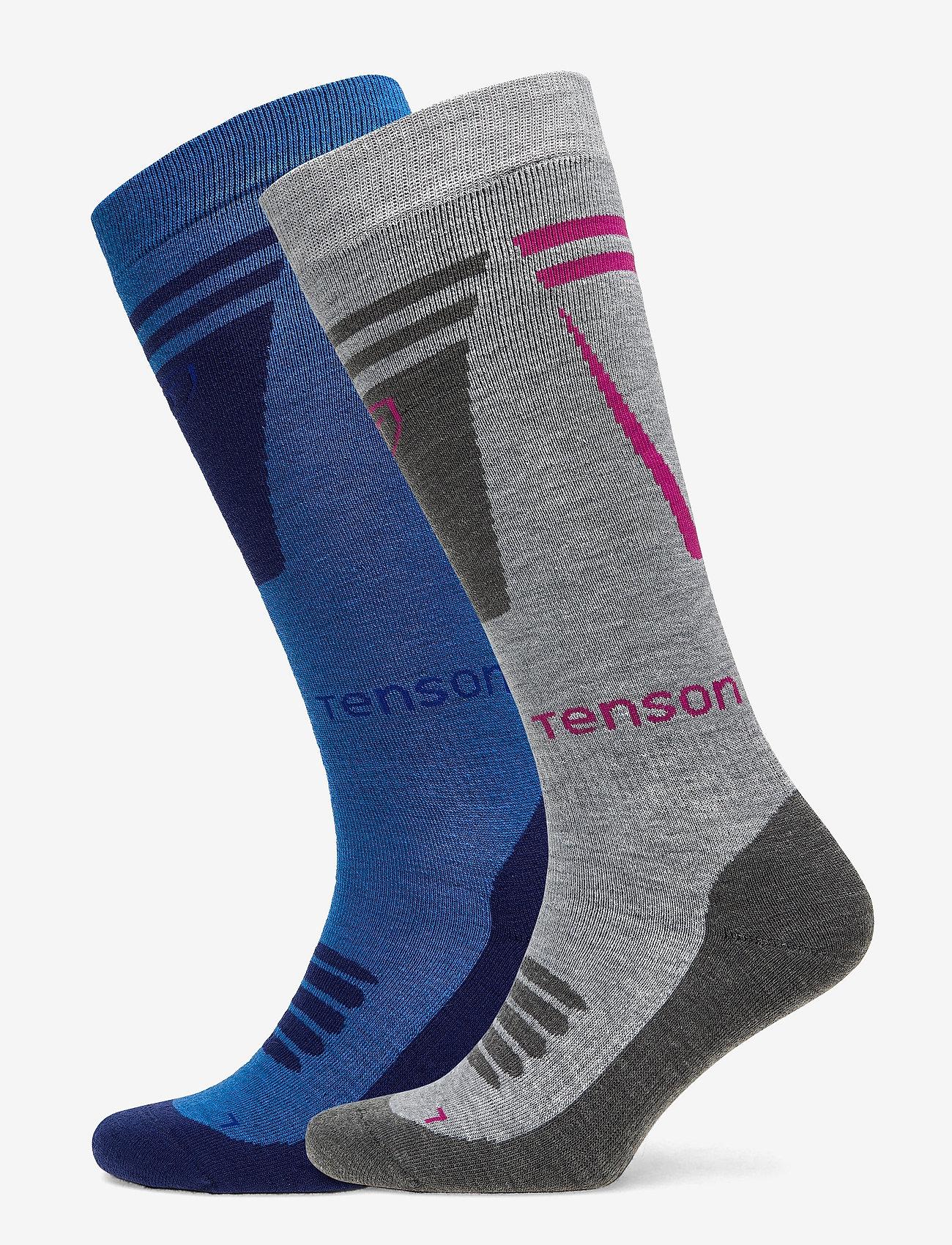 Tenson - CORE SKI SOCK 2PR - regular socks - blue - 0