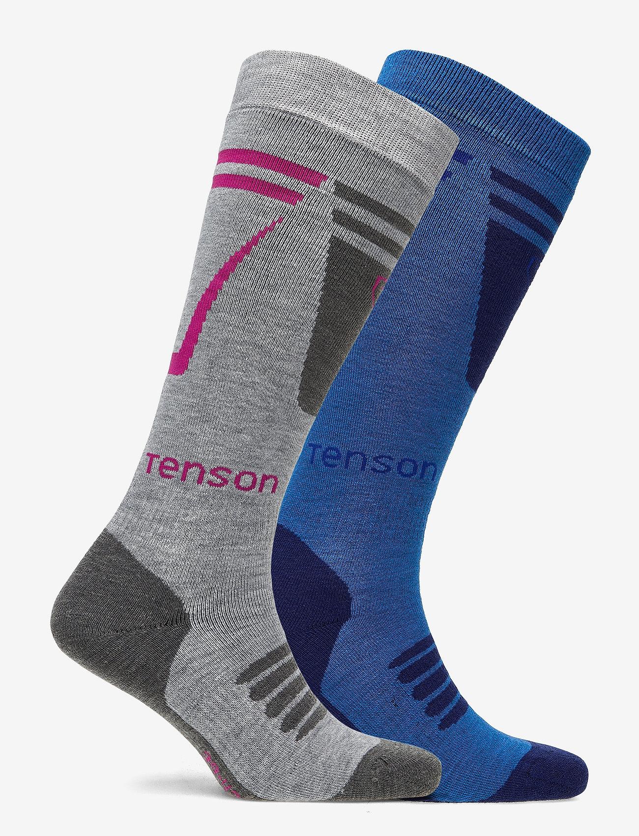 Tenson - CORE SKI SOCK 2PR - regular socks - blue - 1