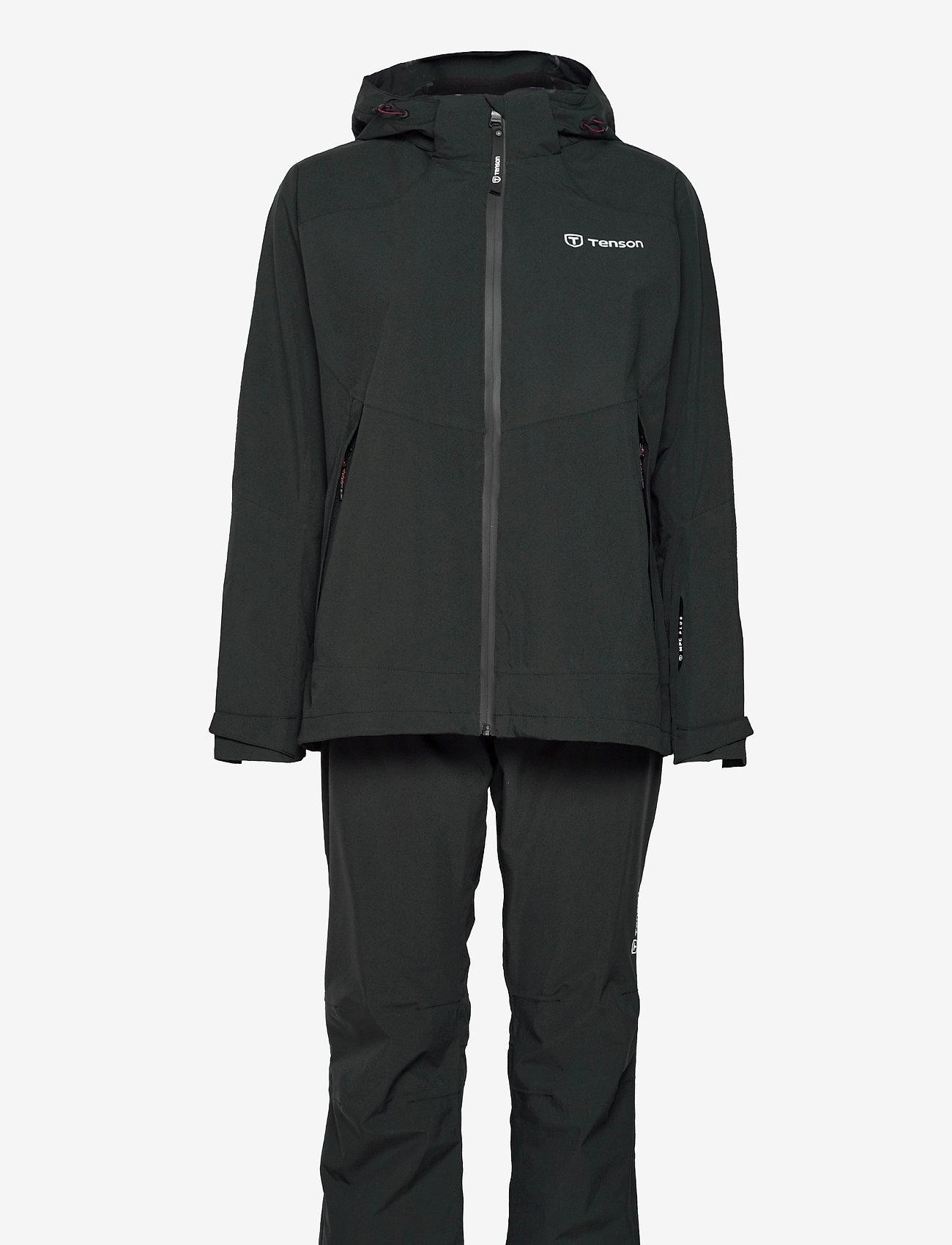 Tenson - HURRICANE XP SET W - manteaux de pluie - black - 0